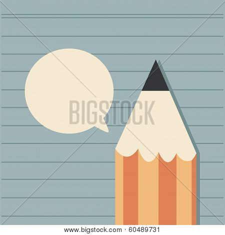 Pencil And Bubbles Speech, Vector