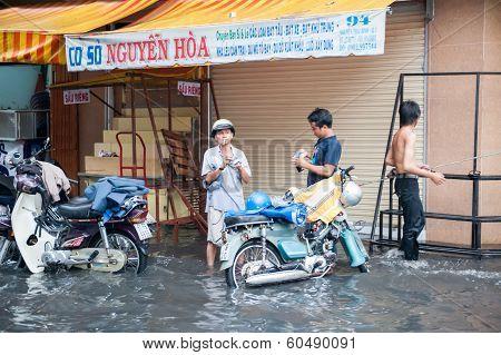 Rainy day in Saigon