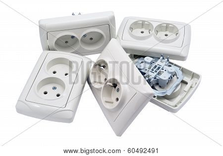 White Socket Isolated