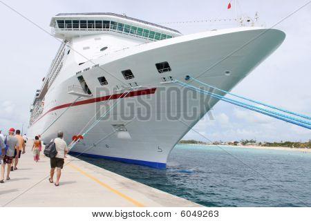 Tropical Ship At Port