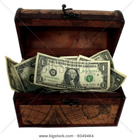 Treasure Chest Filled With Money