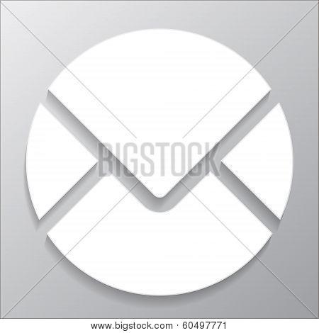 icon circle mail