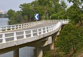 picture of twisty  - Asphalt twisty highway bridge - JPG