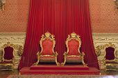 Lisbon, Portugal, December 02, 2013: The Throne Room of the Ajuda National Palace, Lisbon, Portugal
