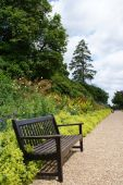 image of hever  - A scenic garden path on the grounds of Hever Castle in England - JPG
