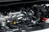 picture of internal combustion  - Detail of a car engine - JPG