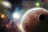 image of stellar  - Planets in space with galaxy and nebulas - JPG