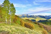 image of colorado high country  - colourful Colorado country road during foliage season - JPG