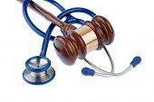 picture of auscultation  - gavel and stethoscope - JPG