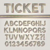 stock photo of broadway  - Silver Bright Broadway Alphabet And Numbers - JPG