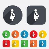 Pregnant sign icon. Pregnancy symbol.
