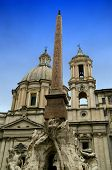 picture of obelisk  - Piazza Navona  - JPG