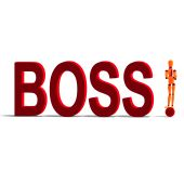 Orange And Red Manikin Is The Boss poster