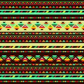 stock photo of primite  - Ethnic seamless pattern in native style - JPG
