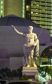 Statue At Caesars Palace Hotel & Casino By Night