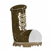 image of work boots  - cartoon old work boot - JPG