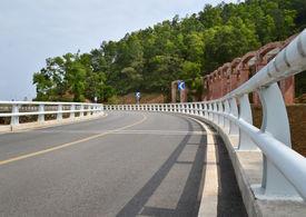 image of twisty  - Asphalt twisty highway bridge - JPG