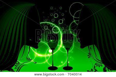 Ladies and wine