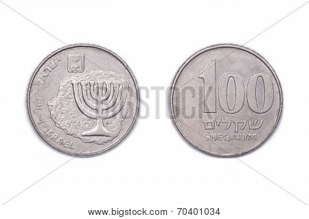 One Hundred old Shekels - Israel.