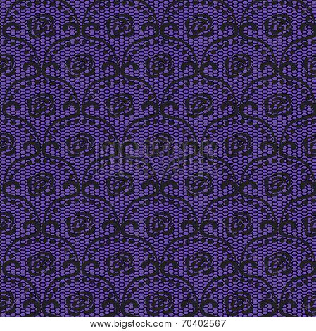Seamless Lace Pattern. Objects Grouped And Named In English. No Mesh, Gradient, Transparency Used.