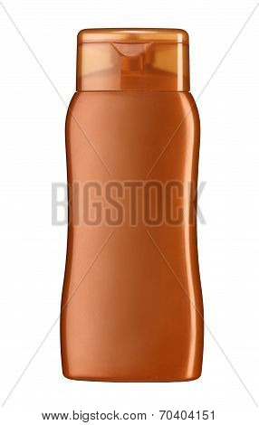 Plastic lotion bottle
