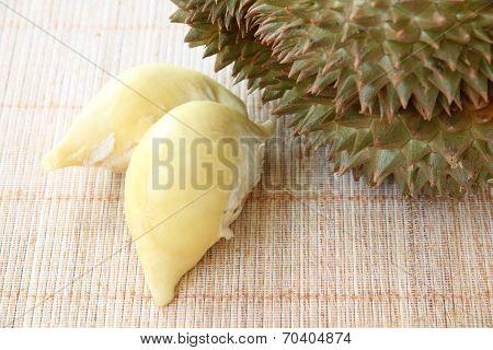 Flesh Durian Of Tropical Fruit.