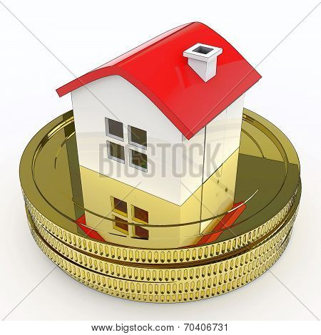 House On Money Means Purchasing And Selling Property
