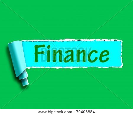 Finance Word Shows Online Lending And Financing