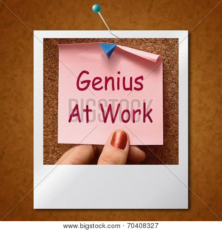 Genius At Work Note Means Do Not Disturb