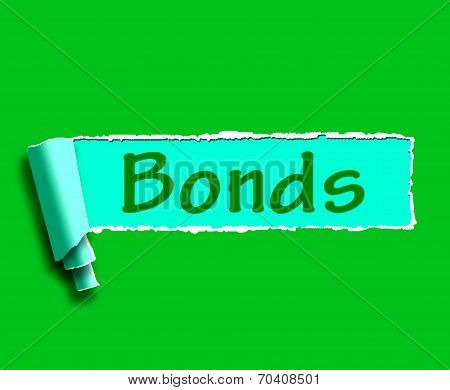 Bonds Word Means Online Business Connections And Networking