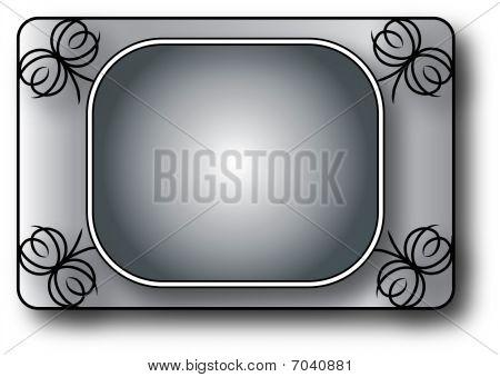 Black Fancy Frame Background
