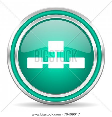 database green glossy web icon