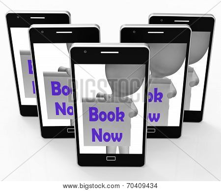Book Now Phone Shows Make Appointment Or Reservation