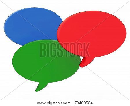 Blank Speech Balloons Shows Copyspace For Thought Chat Or Idea