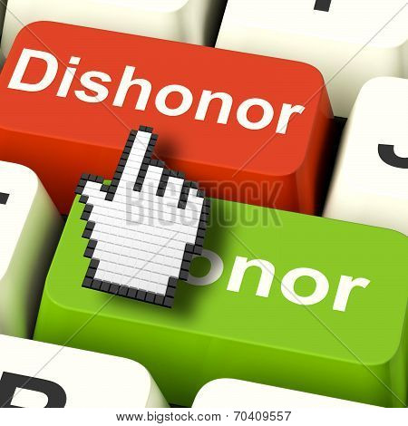 Dishonor Honor Computer Shows Integrity And Morals