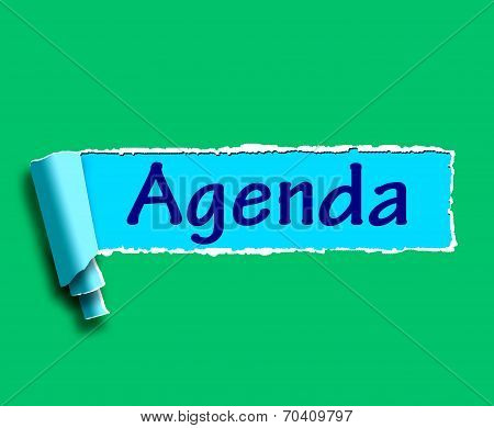 Agenda Word Means Online Schedule Or Timetable