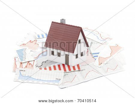 Small house on newspaper charts