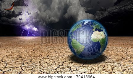 Earth in desert