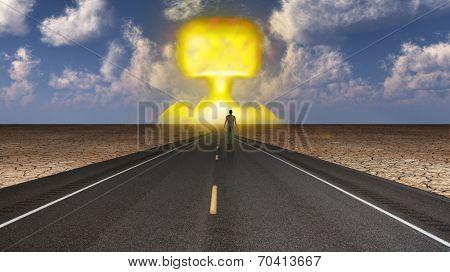 Man witnesses nuclear blast