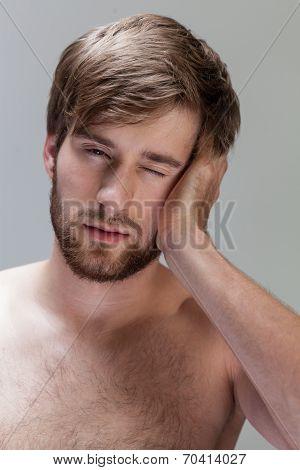 Man Feeling Pain In Head