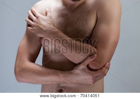Man With Hurting Elbow