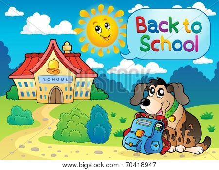 Back to school thematic image 5 - eps10 vector illustration.
