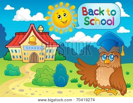 Back to school thematic image 6 - eps10 vector illustration.