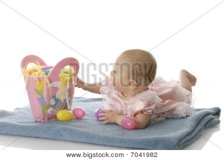 Baby With Easter Basket