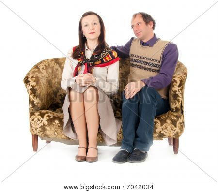 Kitsch Couple On Sofa