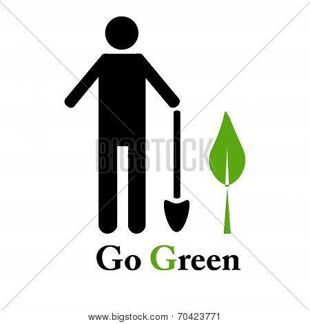 Go green emblem