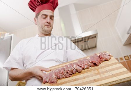 Chef And Sliced Sirloin