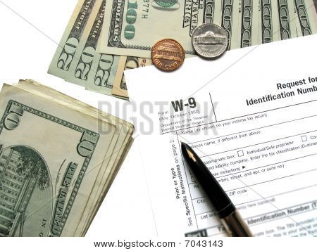 Money Tax For W-9 Revenue Tax Form
