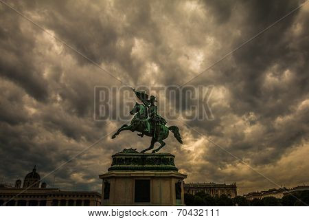 Maria Theresa monument in Maria-Thesienplatz, Vienna, Austria
