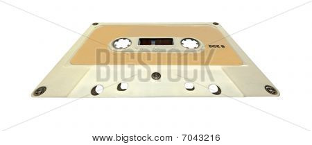 Retro Magnetic Audio Cassette Tape, Clipping Path, Isolated